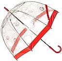 ムーンバット FULTON(フルトン) Birdcage バードケージ 婦人ビニール長傘 【dish】 レディース レッド 日本 親骨65cm (FREE サイズ)