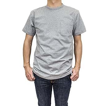 (レッドキャップ) RED KAP メンズ ポケットTシャツ 2枚組 / Single Jersey / XLサイズ GREY(グレー/灰)