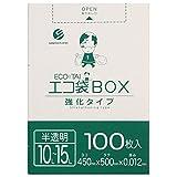 ポリ袋 ごみ袋 10-15L 半透明 0.012mm厚 ボックスタイプ Bedwin Mart (a_100枚)