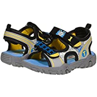 Jump Thomas and Friends Boys Sandals Size 5-10 Toddler, Grey Blue Yellow TPR Sole