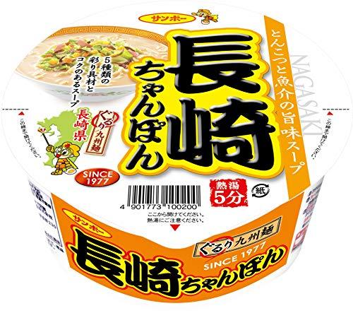 サンポー食品 長崎ちゃんぽん 92g×12個