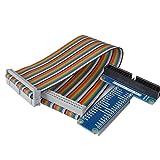 Kuman Raspberry Pi用キット ブレイクアウトボード ブレッドボード ブレイクアウトボード+GPIO 40ピンリボンケーブル+I/O延長基板キット ラズベリーパイ Raspberry Pi 3 Zero 2 B+ A+ SC05