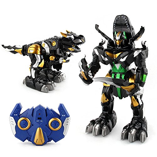 Liebye 変形ロボットモデル 光の音で子供たちのおもちゃ...