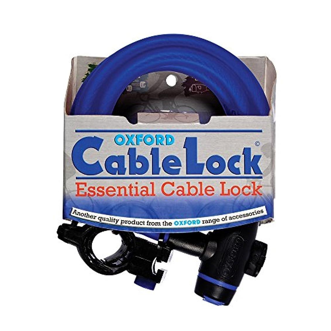 畝間ロッカー独裁オックスフォード(OXFORD) バイク用チェーンロック ケーブルロック 1.8m ブルー Q5K-LIK-002-458