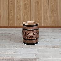 国産ヒノキで造る樽 (豆サイズ直径28㎝, ブラウン)