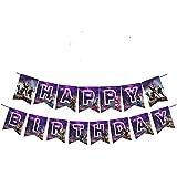 Awyjcas ビデオゲームパーティー記念品 誕生日バナー パーティー用品 赤ちゃん 男の子 誕生日ケーキトッパー フェルトガーランド パーティーデコレーション