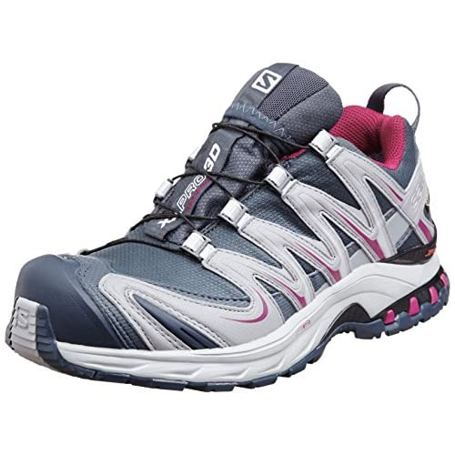 [サロモン] SALOMON トレッキングシューズ XA PRO 3D GTX W L36889900 GREY DENIM / PEARL GREY / MYSTIC PURPLE (GREY DENIM / PEARL GREY / MYSTIC PURPLE/23)