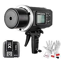 Godox AD600BM 600Ws GN87 1/8000 HSS ハイスピードシンクロ屋外フラッシュ(Bowensマウント) アウトドアストロボ  X1T-S TTLワイヤレスフラッシュトリガーと8700mAhバッテリー付き MIシューがあるSONY DSLRカメラA77II A7RII A7R A58 A99 ILCE6000Lなどに対応 電波法認証済み