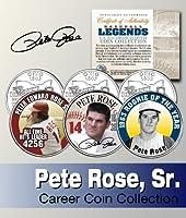 Baseball Legend PETE ROSE US Statehood Quarter Colorized 3-Coin SetLicensed by Merrick Mint