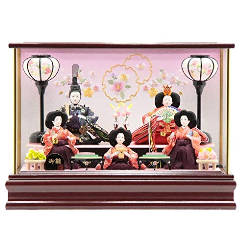 雛人形 ケース入り五人飾り[幅47cm][it-1012] 雛祭り
