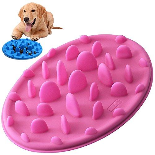 PETBABA(ペットババ) 食器 早食い防止 犬 猫 仔犬 スローフード ペット用 餌入れ ダイエット むせ防止食器 (S, ピンク )