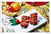 食品および飲料の金属看板 ティンサイン ポスター / Tin Sign Metal Poster (J-FNB03750) Crab Meat Swords Tomato Table Japanese Cuisine 20978