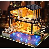 Magic House(マジック ハウス)Time apartment ドールハウス ミニチュア LEDとオルゴール(カノン)付属 防塵ケース付属 手作りキットセット