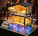 Magic House(マジック ハウス)Time apartment ドールハウス ミニチュア LEDとオルゴール(カノン) 付属 防塵ケース付属 手作りキットセット