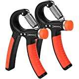 DaZone Hand Grip Exerciser, Adjustable Hand Grip Exerciser, Hand Gripper Exerciser Forearm Strength Training - Beginner Intermediate, Best Hand Exerciser Trainer for Athletes and Musicians (10-40kg)