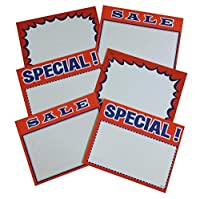2.75 X3.5 Sign Card Set Blank Special and Sale (3 packs 100 each pack) [並行輸入品]