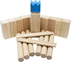 Bloodyrippa KUBB Garden Game, Original Viking Chess Set for Backyard, Lawn, Beach, Made of Solid Hard Wood, Ages, Carry...