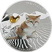 フィジー 2013年 可愛い犬猫シリーズ 野生の猫1 スナネコ 2ドルカラー銀貨
