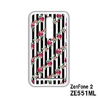 ASUS ZenFone 2 ZE551ML スマホケース カバー ストライプ 5-009B ゼンフォン2 ASUS エイスース