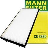 MANN エアコンフィルター (ポルシェ/ボクスター) CU 3360 【型式:986K・98623・98624・98665・98667 初年:96/10-04/11】【型式:98720・98721・98725・98726・987MA120・987MA121 初年:04/12-】