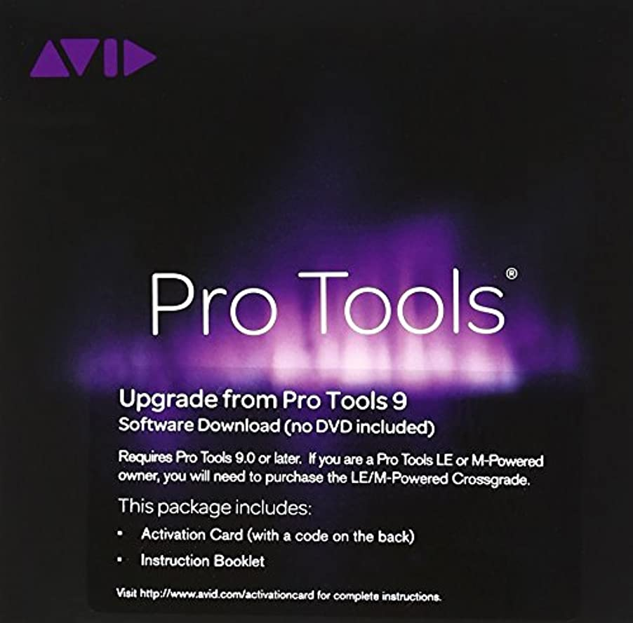 滞在対話韻【国内正規品】 AVID ProToolsソフトウェア Pro Tools 9 to 11 Upgrade Activation Card PT9TO11UPGRADE