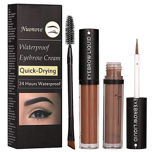 眉マスカラ ブラウン 持続性 防水 化粧用 2個