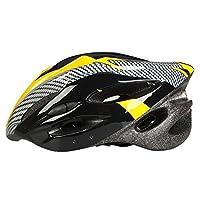 自転車 ヘルメット 大人用 サイクルヘルメットクロス 頭囲サイズ調整可能 頭囲54-62cm 超軽量 通気孔21個 イエロー