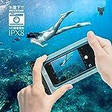 2枚セット 2019最新版 スマホ 防水ケース IPX8認定 iPhone 11 Pro Max X XR XS 8 7 Androidに対応 水中 撮影 タッチ可 風呂 海 プール 釣り 雨 潜水 水泳 雪 温泉など適用 YOSH 防水カバー 防水ケース スマホ用 永久保証 透明 画像
