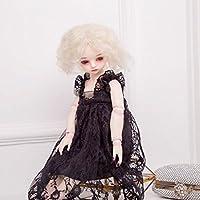 【ノーブランド品】 ファッション  プリンセス   レース  ドレス  スカート  服装  1/3 1/4 BJD SD LUTSドルフィー人形用 8色選べる  - ブラック