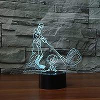 3D ナイトライト 7色変化 LEDデスク テーブルランプ アート ホーム 子供 寝室 睡眠 装飾 ホリデーパーティー ギフト 3893-MA