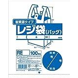 ジャパックス 省資源タイプ レジ袋 (バッグ) 乳白 25×34cm 東日本8号、西日本25号 RE-08 100枚入