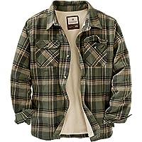 Legendary Whitetails Mens Deer Camp Fleece Lined Flannel Shirt Jacket