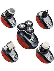 電気かみそり、メンズUSB充電コードレスひげトリマー、防水/ベニヤデザイン、多機能バリカン/鼻毛トリム
