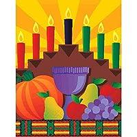 Festive Kwanzaa Celebrationテーブルカバー、マルチカラー、紙、54cm x 102、8点