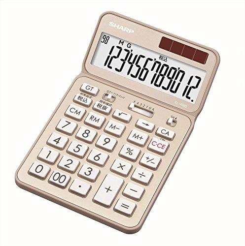 シャープ 電卓50周年記念モデル ナイスサイズモデル ゴールド...