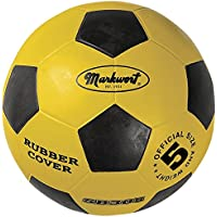 Markwort Official Size-5 Rubber Cover Soccer Ball, Yellow [並行輸入品]