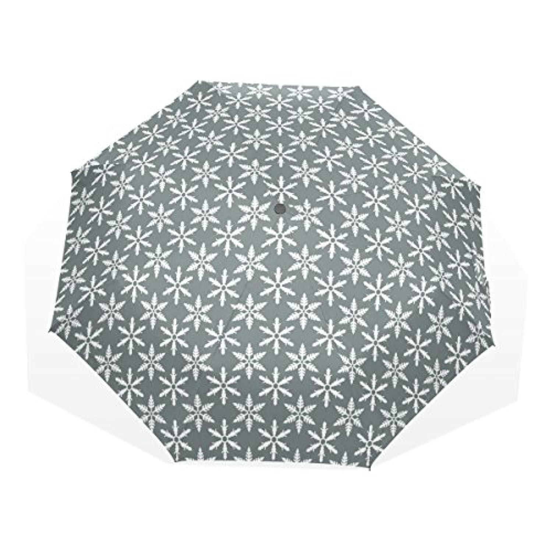 ユキオ(UKIO) 折りたたみ傘 レディース 晴雨兼用 高密度 遮光 手動 遮熱 飛び跳ね防止 梅雨対策 雨傘 日傘 軽量 花柄 防風 頑丈 雪 花 収納ケース付
