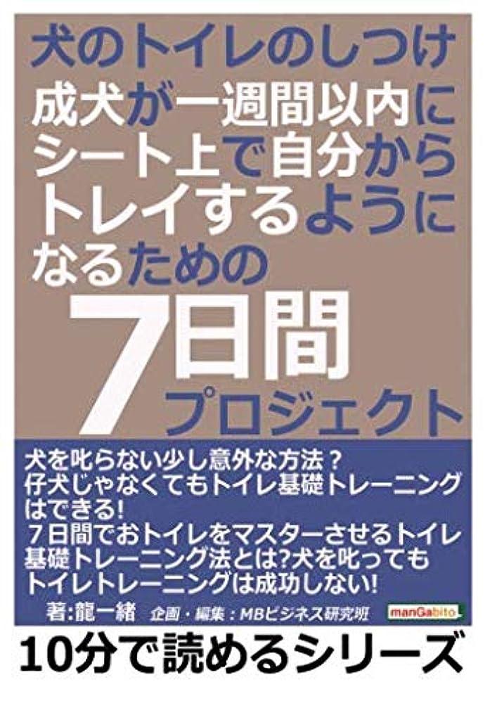 町浜辺満州犬のトイレのしつけ。成犬が一週間以内にシート上で自分からトレイするようになるための7日間プロジェクト! (10分で読めるシリーズ)