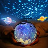 Star Night Light for Kids, Universe Night Light Projection Lamp, Romantic Star Sea Birthday New Projector lamp for Bedroom - 3 Sets of Film (Multi-Colored)