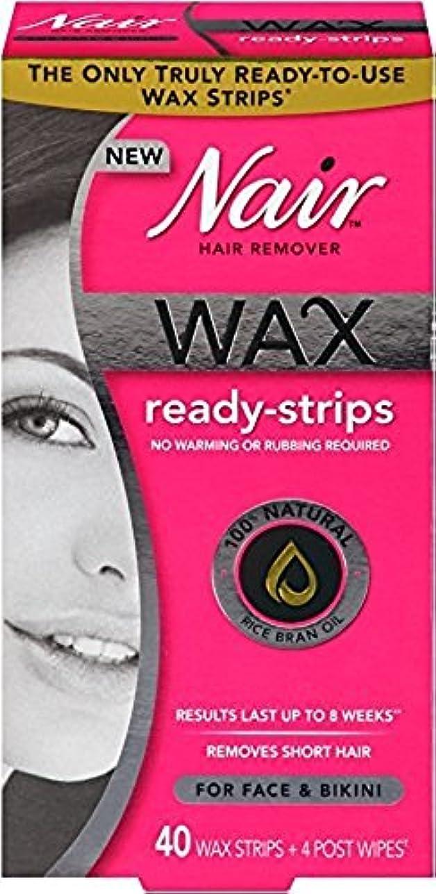 合併症石鹸軽減するNair ワックスレディフェイス40Ctについてサイズ40Ctワックスレディストリップのためにストリップ 4パック