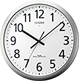 CITIZEN ( シチズン ) 電波 掛け時計 パルフィス484 防滴 防塵 オフィス 業務用 タイプ グリーン購入法 適合商品 ステンレス 枠 シルバー 8MY484-019