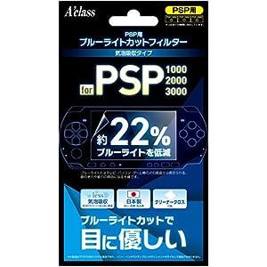 PSP用 ブルーライトカットフィルター (気泡吸収タイプ)