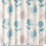 【デザインカーテン】洗える!ディズニー プーさん ジャンプ 既製サイズ幅100x丈135cm M-1134(ブルーグレー)