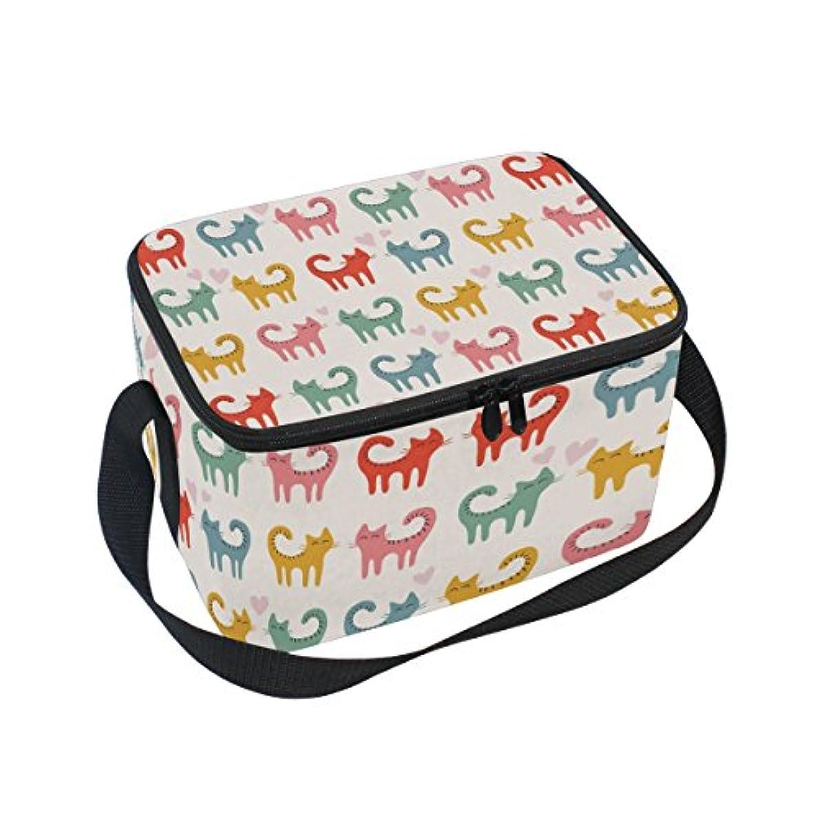 いつでも読書花束クーラーバッグ クーラーボックス ソフトクーラ 冷蔵ボックス キャンプ用品 猫柄 カラフル 保冷保温 大容量 肩掛け お花見 アウトドア