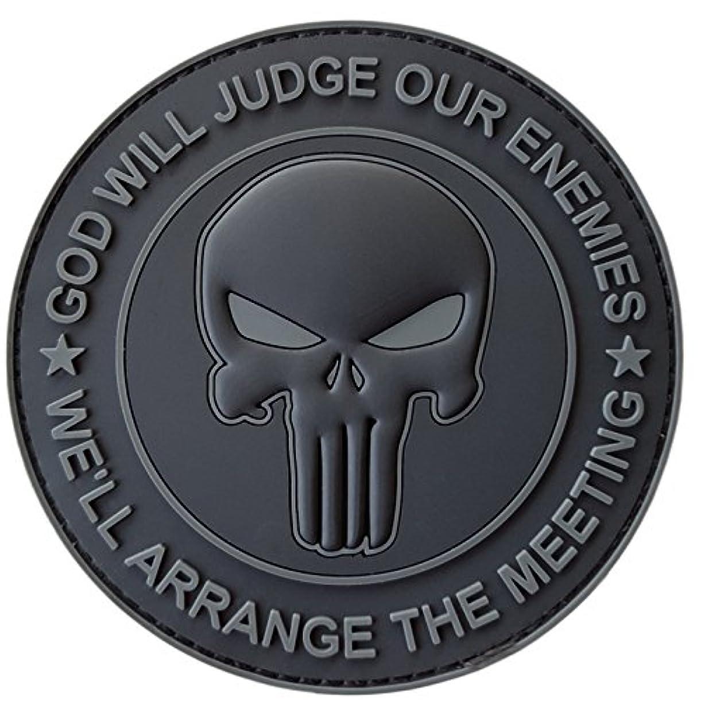 相対性理論豆うなり声ALL BLACK GOD WILL JUDGE OUR ENEMIES パニッシャー スカル ドクロ Subdued DEVGRU ネイビーシールズ PVC ベルクロ面ファスナー パッチ Patch