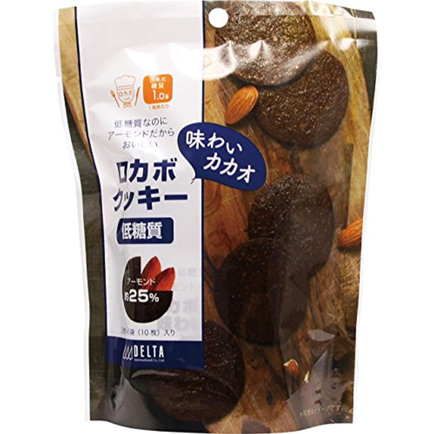 ほうきすぐに悲しいことにデルタ 低糖質 ロカボクッキー 味わいカカオ 10枚【5個セット】