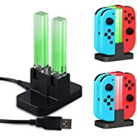 Nintendo Switch Joy-Con充電器 急速充電 ニンテンドースイッチ ジョイコン 充電スタンド 4台同時…