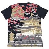 JAPAN 日本 金閣寺 和柄 半袖 プリント Tシャツ メンズ t215322