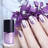 WebShopCenter(TM) 9ml Born Pretty Metallic Nail Polish Purple Mirror Effect Varnish Manicure Decor
