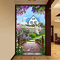 Xbwy 写真の壁紙3D自然風景木橋壁画リビングルームレストランエントランス背景壁絵画-150X120Cm